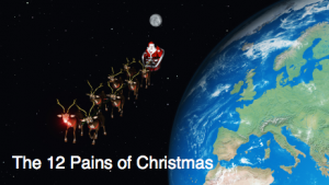 Read more about the article You can certainly sing this! The 12 Pains of Christmas