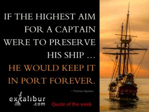 Read more about the article Get your ship out of the harbor. Now.
